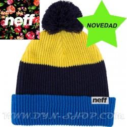 Gorro de lana NEFF Snapy Blue/yellow