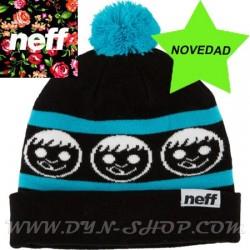 Gorro de lana NEFF Standard Blk/cyan