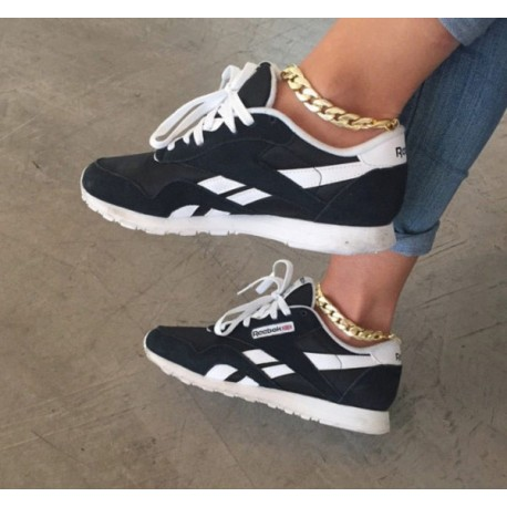 Zapatillas REEBOK CLASSICS negras para mujer baratos.