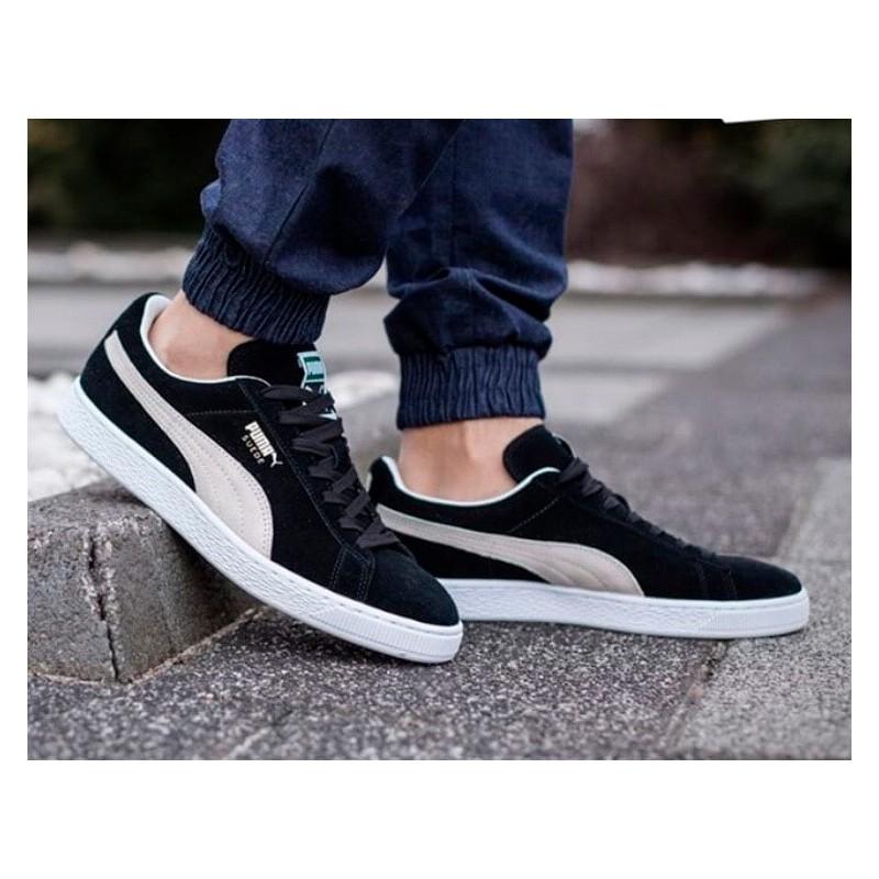 64908d90c Calzado Puma classic suede negras. Zapatillas de moda para hombre.