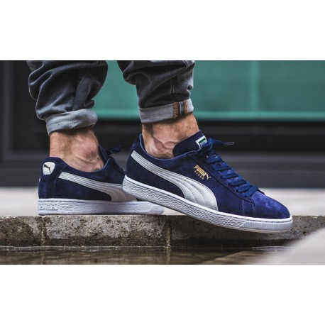 Zapatillas De Azul Suede Hombre Moda Classic Para Puma Calzado fqTXIf
