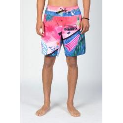 Bañador surf NEFF Yoko Hot Pink
