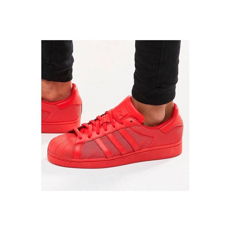 adidas superstar rojas hombre