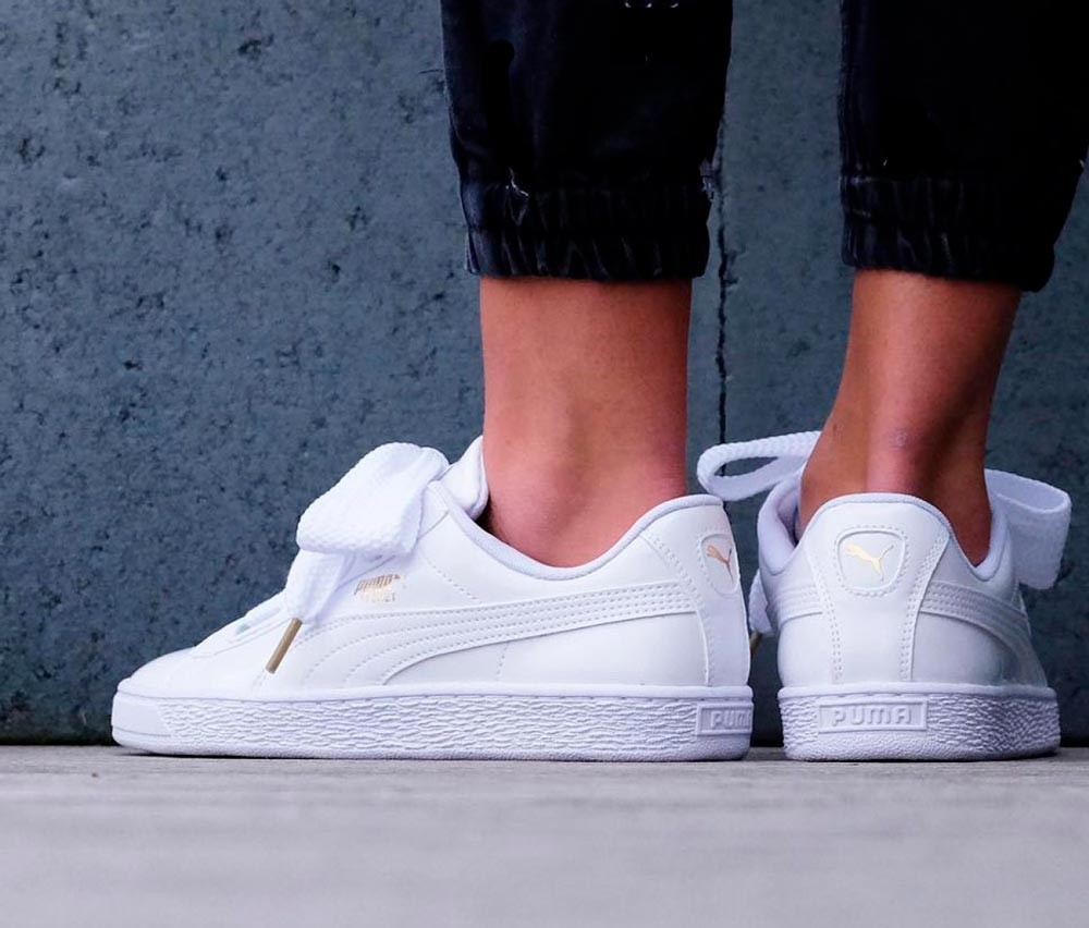 puma basket heart lazo