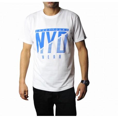 Camiseta NYD WEAR Icon White Blue