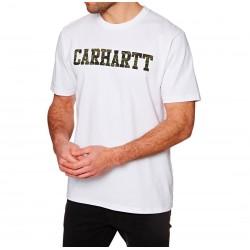 Camiseta CARHARTT College Wht/Camo