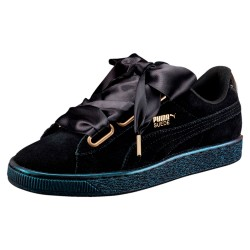 Zapatillas PUMA Suede Heart Satin Blk