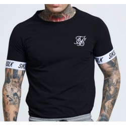 Camiseta SIKSILK Raglan Tech Black