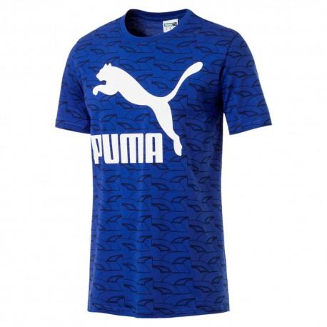 Blancas La Camiseta HombreOriginal De Marca Puma Con Letras Azul qUpGSMVz