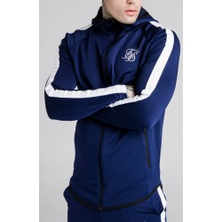 Camiseta SIKSILK Athlete Hoodie Navy