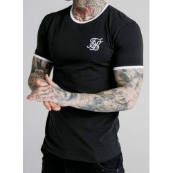 Camiseta SIKSILK Straight Tee Black/White