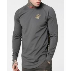 Camiseta SIKSILK Taped Performance Crew Grey