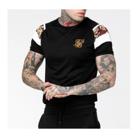 Camiseta SIKSILK Royal Venetian Black/Red