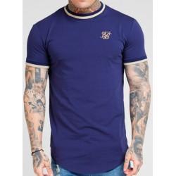 Camiseta SIKSILK Rib Navy