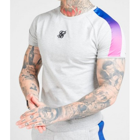 Camiseta SIKSILK Fade Panel Grey/Neon
