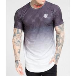 Camiseta SIKSILK Monogram Fade Black/White