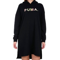 Vestido PUMA Chase Hooded Black