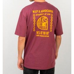 Camiseta CARHARTT Wip Law T-Shirt Dusty Fuchsia/Yellow