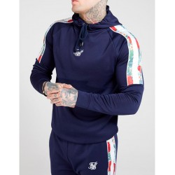Sudadera SIKSILK Raglan Muscle Fit Navy