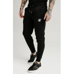 Pantalon SIKSILK Elasticated Cuff Panel Joggers Navy