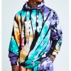 Sudadera SIKSILK x Steve Aoki Overhead Hoodie - Rainbow Ink Tie Dye