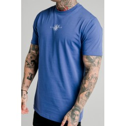 Camiseta SIKSILK Square Hem Tee – Blue