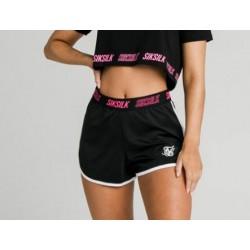 Pantalon SIKSILK Tape Runner Shorts - Black