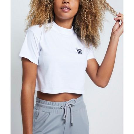 Camiseta SIKSILK Retro Box Fit Crop Tee – Optic White