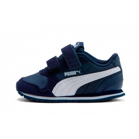 Zapatillas PUMA Niño St Runner Vz Navy/White