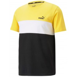 Camiseta PUMA Block Tee Lemon/Black
