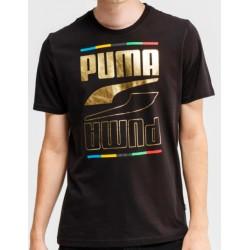 Camiseta PUMA Rebel 5 Continents Black/Gold