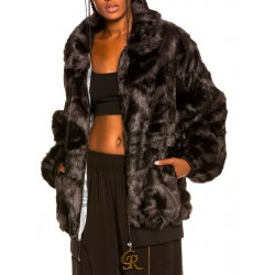 Chaqueta Bomber Grimey Alienation Fur Black