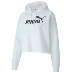 Sudadera PUMA Mujer Elevated Essentials Cropped White