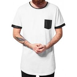 Camiseta larga URBAN CLASSICS Long White/Black