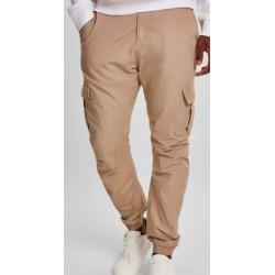 Pantalones Jogger URBAN CLASSICS Ripstop Cargo Beis