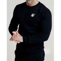 Sudadera SIKSILK Crew Sweat Black
