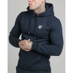 Chaqueta SIKSILK Muscle Fit Overhead Navy