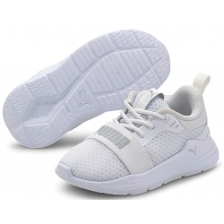 Zapatillas PUMA Niño Wired Run AC White