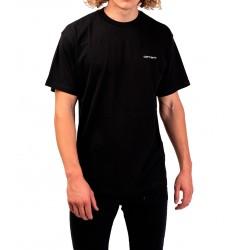 Camiseta CARHARTT Wip Script Embroidery Black/White