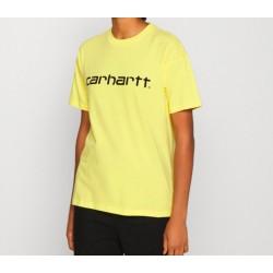 Camiseta CARHARTT Wip Script Limoncello/Blk