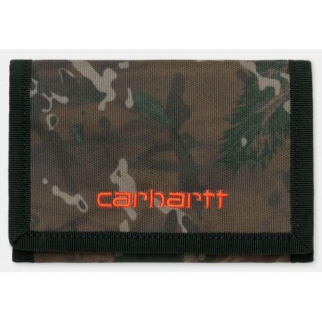 Cartera CARHARTT WIP Payton Wallet Camo/Orange