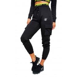 Pantalon SIKSILK Divergent Joggers Black