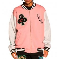 Sudadera chaqueta GRIMEY Destroy All Fear Pink