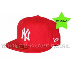 Gorra Plana NEW ERA Yankees Roja