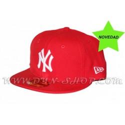 Gorra Plana NEW ERA Yankees Roja