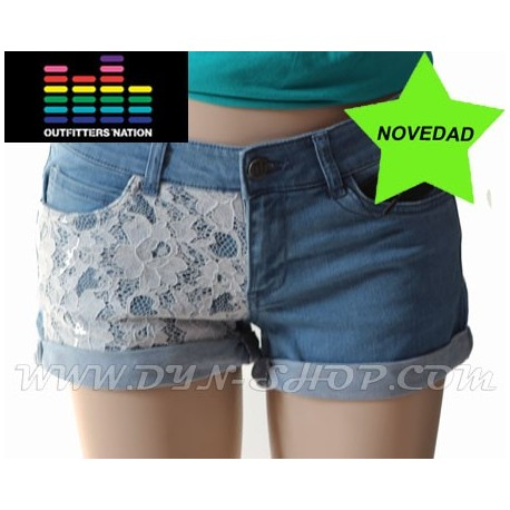 Shorts con puntilla OUTFITTERS Velour